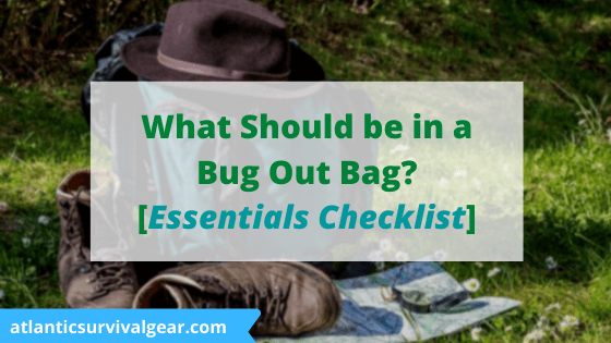 What should be in a bug out bag