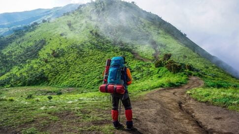 Are bug out bags necessary, man with a backpack hiking