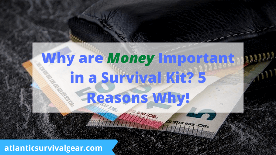 Why are money important survival kit