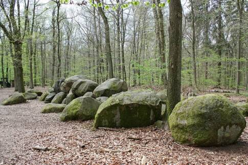 How to Waterproof a Survival Shelter, large rocks in a forest