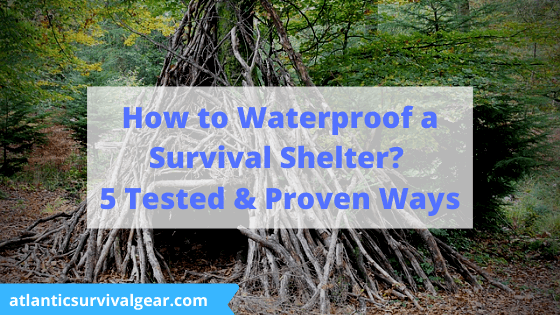 How to Waterproof a Survival Shelter, thumbnail